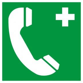 Rettungsschild Notruftelefon