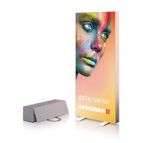 OCTALUMINA 120 Freistehend m. Fußplatte 80x180cm - mobiles Leuchtdisplay