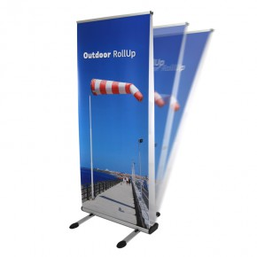 Outdoor RollUp Display 85x200cm - das doppelseitige Rollup Display