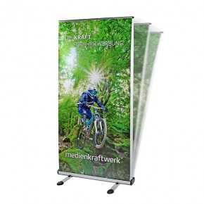 Outdoor RollUp Display 100x200cm - das doppelseitige Rollup Display