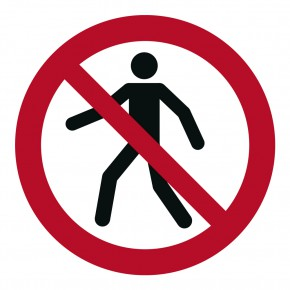 Verbotsschild Für Fußgänger verboten - P004