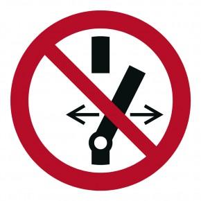 Verbotsschild Nicht schalten - Schalten verboten - P031