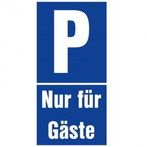 Parkplatzschild Parkplatz nur für Gäste