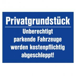 Privatgrundstück - Parkplatzschild
