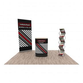 Promotionstand Set 1 - Roll-Up Displays, Promotiontheke und Prospektständer