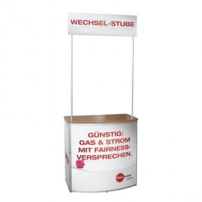 QuickDesk Halbrundtheke medium inkl. TopSchild