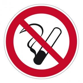 Verbotsschild Rauchen verboten (rund)