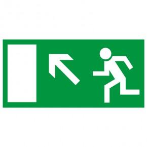 Rettungsschild Fluchtweg links aufwärts