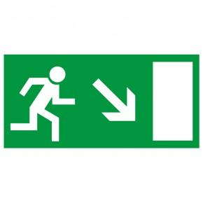 Rettungsschild Fluchtweg rechts abwärts