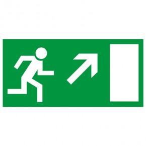 Rettungsschild Fluchtweg rechts aufwärts