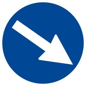 Richtungshinweis - Gebotsschild
