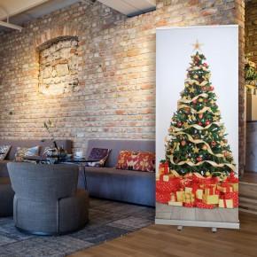 RollUp mit Weihnachtsbaum / Weihnachtsmotiv
