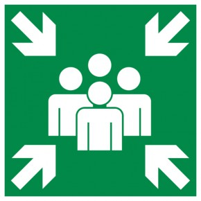 Rettungsschild Sammelplatz
