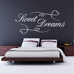 wandtattoo sweet dreams hier g nstig bestellen medienkraftwerk. Black Bedroom Furniture Sets. Home Design Ideas