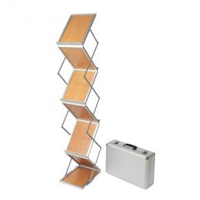 Faltbarer Prospektständer SetUp A4 Holz