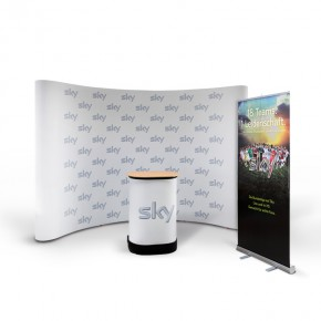Promotionstand Set 4 - Messedisplay, Werbetheke, Rollup-Banner