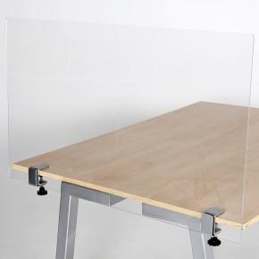 Spuckschutz Klemmhalter für Tischkante - Anwendungsbeispiel - Spuckschutz