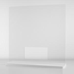Spuckschutzwand / Niesschutz / Hygieneschutz als Tischaufsteller - 60 x 60 cm