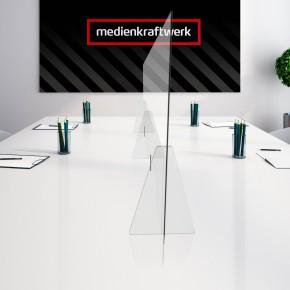 Spuckschutzwand / Niesschutz / Hygieneschutz - Konferenztisch