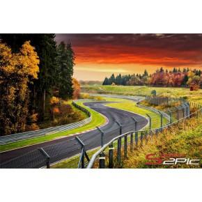 Sunset Hatzenbach - Nürburgring - Wandbild