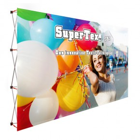 SuperTex® 2.0 53 gerade Textil-Faltdisplay