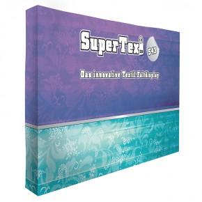 Textilfaltdisplay SuperTex® 2.0 43 gerade inkl. Seitenabschluss