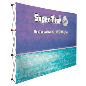SuperTex® 2.0 43 gerade Textil-Faltdisplay