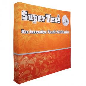 Textil Faltdisplay SuperTex® 2.0 33 gerade inkl. Seitenabschluss