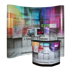 SuperSonic® EVO C33 gebogen - Faltdisplay mit LargeBox Transportkoffer