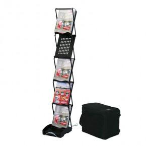 SwingUp Prospektständer mattschwarz inkl. Transporttasche