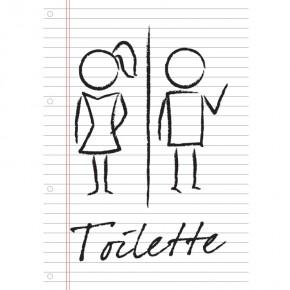 Hinweisschild Toilette A4