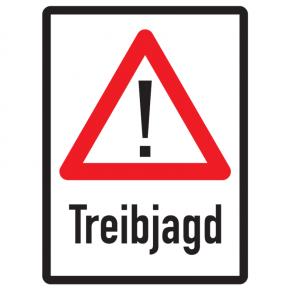 Warnschild Treibjagd