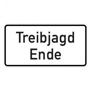 Treibjagd Ende - Hinweisschild - Forex