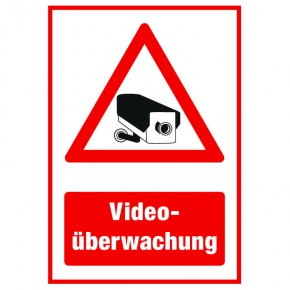 Videoüberwachung - Hinweisschild - Forex