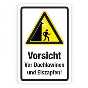 Schild - Vorsicht vor Dachlawinen und Eiszapfen auf Forex