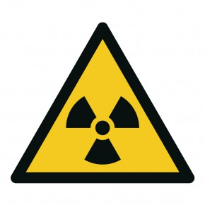 Warnschild Warnung vor radioaktiven Stoffen - W003