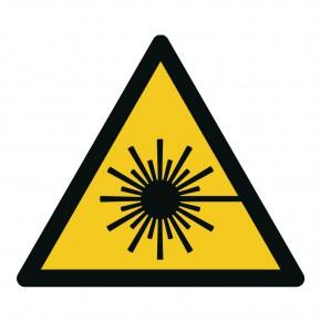 Warnschild Warnung vor Laserstrahl - W004
