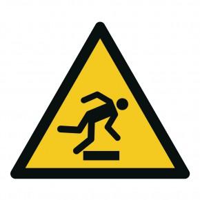 Warnschild Stolpergefahr / Warnung vor Hindernissen am Boden - W007