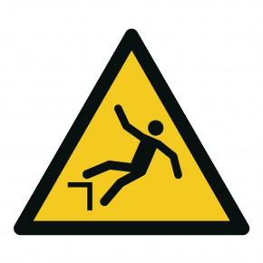 Warnschild Warnung vor Absturzgefahr - W007