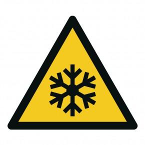 Warnschild Warnung vor Kälte - W010