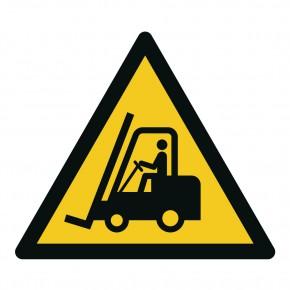 Warnschild Stapler / Flurförderzeugen - W014