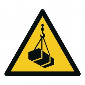 Warnschild Warnung vor schwebender Last - W015