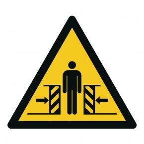Warnschild Warnung vor Quetschgefahr - W019