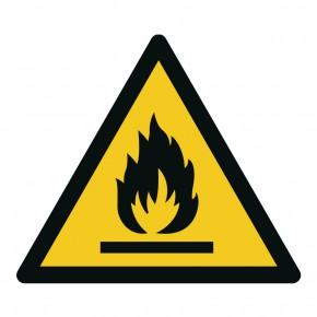 Warnschild Feuergefährliche Stoffe - W021