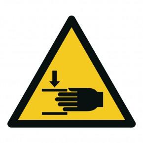 Warnschild Warnung vor Handverletzungen - W024