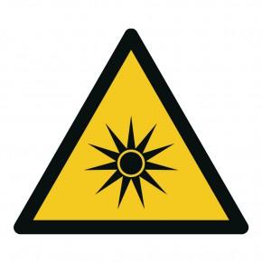 Warnschild Warnung vor optischer Strahlung - W027