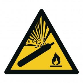 Warnschild Warnung vor Gasflaschen - W029