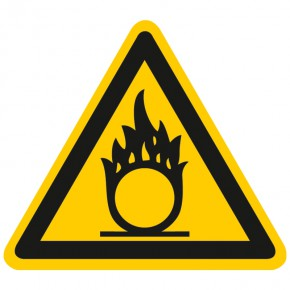 Warnschild Warnung vor Brandfördernden Stoffen