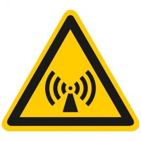 Warnschild Warnung vor elektromagnetischer Strahlung