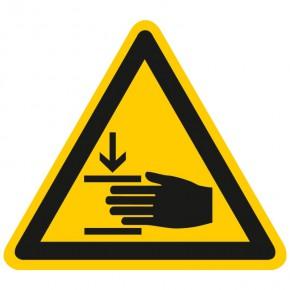 Warnschild Warnung vor Handverletzungen